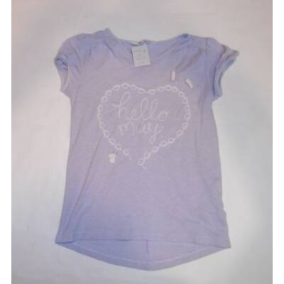 122-128-as lila feliratos póló - H&M