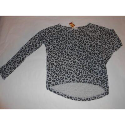 134-140-es szürke leopárdmintás pamutfelső - H&M