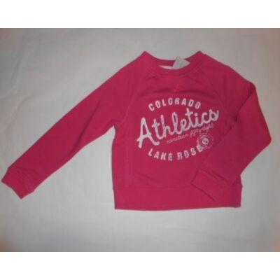 110-116-os rózsaszín feliratos pulóver - H&M