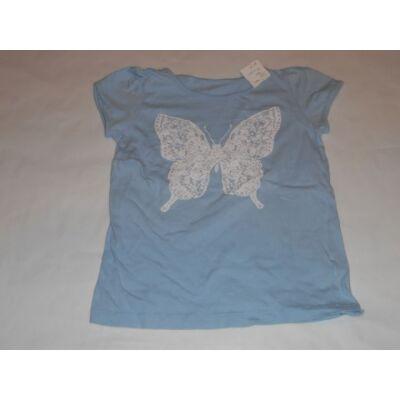 122-es kék lepkés póló
