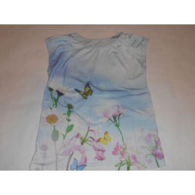 122-es kék virágos póló