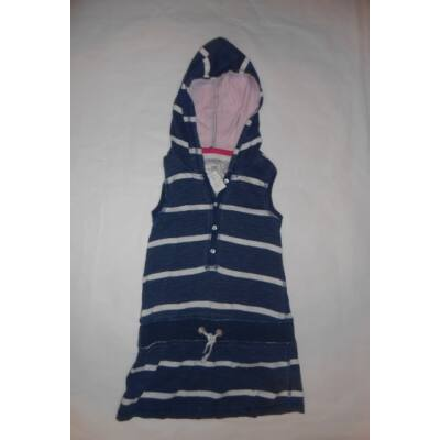 110-116-os kék-fehér csíkos ujjatlan tunika - H&M