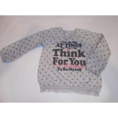 128-as szürke pöttyös lány pulóver