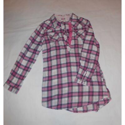 116-os rózsaszín kockás tunika - H&M