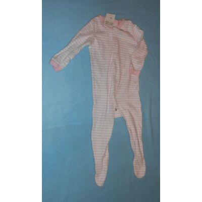 68-as rózsaszín csíkos hosszúujjú rugi