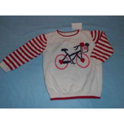 86-os biciklis lány pulóver