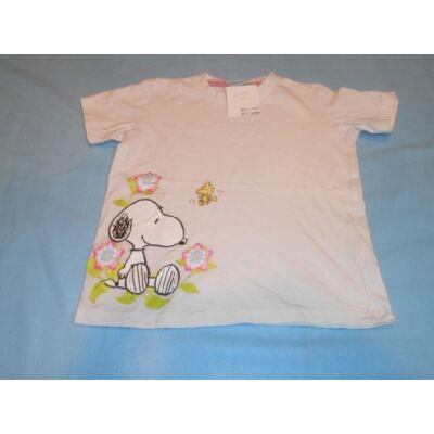 110-116-os fehér lány póló - Snoopy