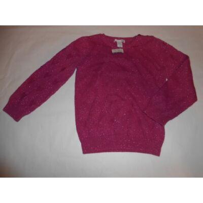 110-116-os rózsaszín csillogó kötött pulóver - H&M