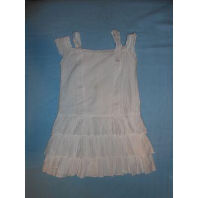 140-146-os fehér magában nintás pántos ruha