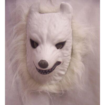 Fehér farkas álarc - ÚJ