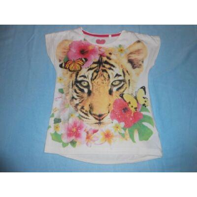 122-es fehér tigrises póló - C&A