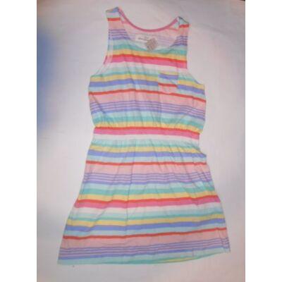 116-os színes csíkos pamut ruha - H&M