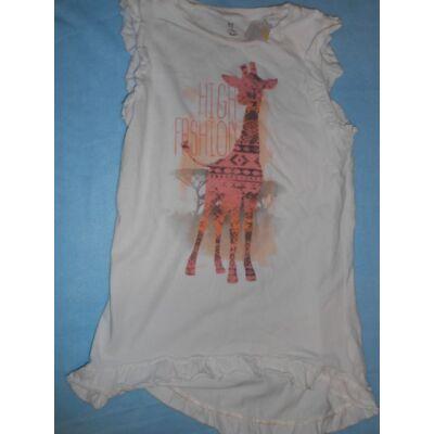 140-146-os fehér zsiráfos tunika - F&F