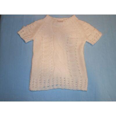 152-es fehér kötött rövidujjú pulcsi - Elfila