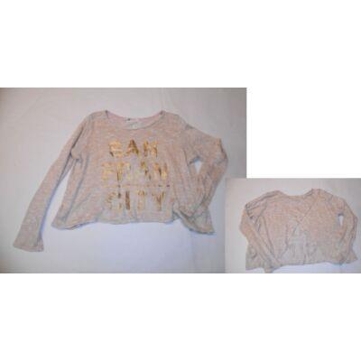 170-es drapp csillogó pulóver - H&M