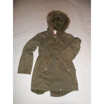122-128-as khaki lány kabát - TU