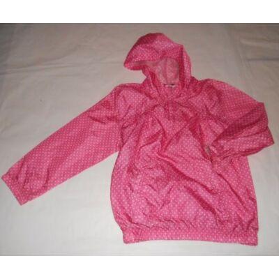 134-140-es rózsaszín pöttyös átmeneti kabát - George