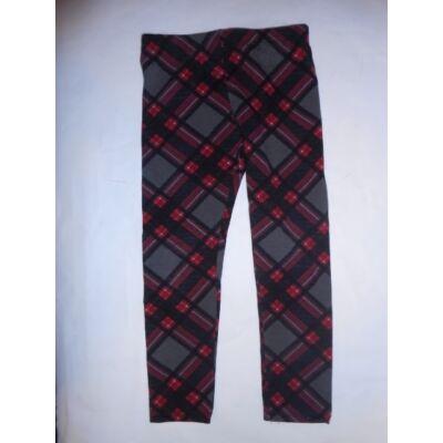 104-es szürke-piros kockás leggings - Zara