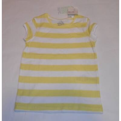 110-es sárga csíkos lány póló - Kiki & Koko - ÚJ