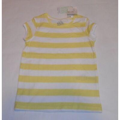 122-es sárga csíkos lány póló - Kiki & Koko - ÚJ