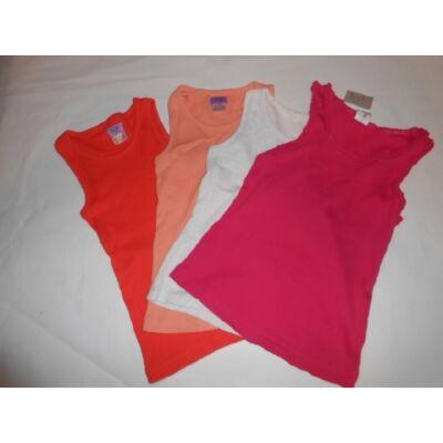 122-es színes ujjatlan bordás pólók, 4 db egyben