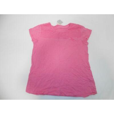 152-es rózsaszín csipkerátétes póló - Zara