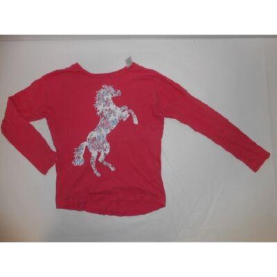 152-es rózsaszín lovas pamutfelső