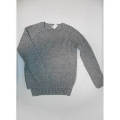 158-164-es szürke kötött lány pulóver - Next