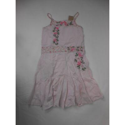 116-os rózsaszín virágos pántos ruha - Next