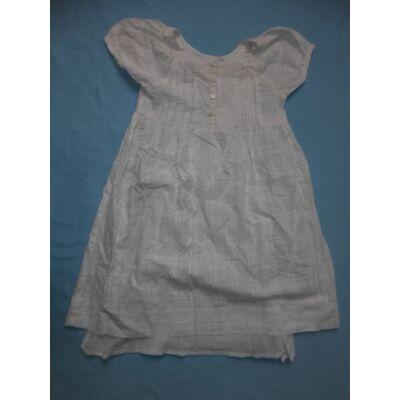 122-es fehér magában mintás ruha - Tik & Tak