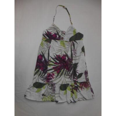 122-es fehér virágos nyakbaakasztós ruha