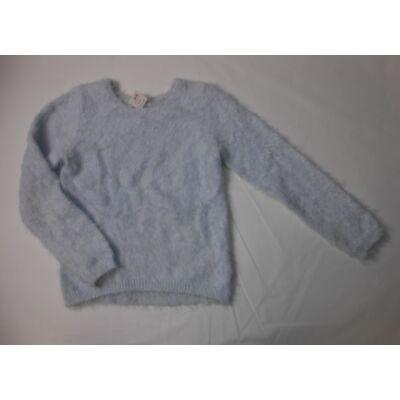 122-128-as szőrmés kék pulcsi - H&M