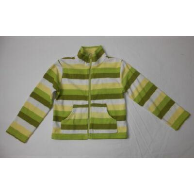 122-es zöld csíkos lány polár kardigán - H&M