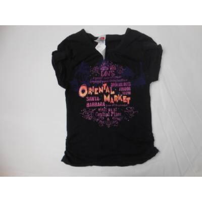134-140-es fekete feliratos lány póló - C&A