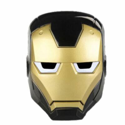 Fekete világítós Vasember álarc - Ironman - ÚJ