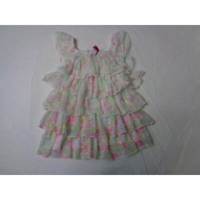 92-98-as fehér virágos fodros ruha - Persival