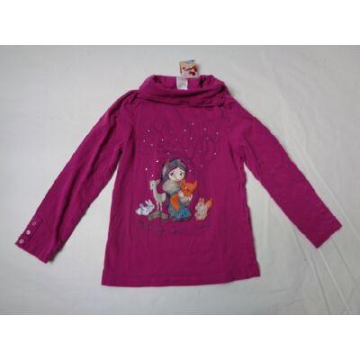128-as pink kislányos garbónyakú pamutfelső - C&A