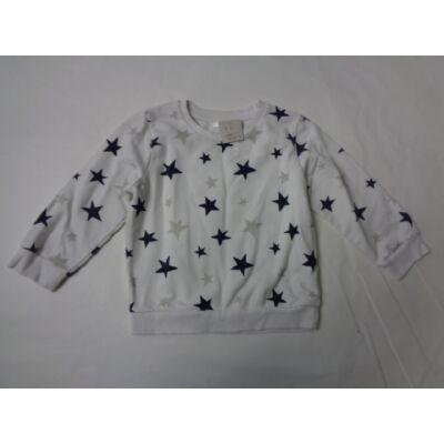 92-es fehér csillagos lány pulóver - Pepco