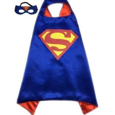 Kék Superman palást maszkkal  - ÚJ