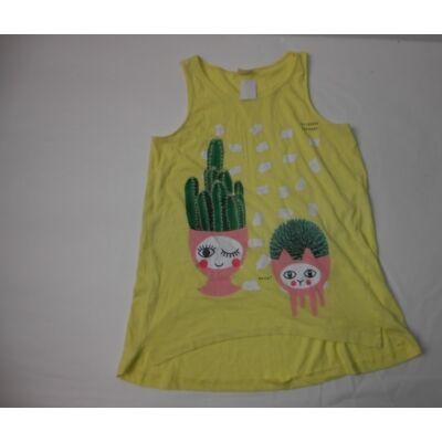 164-es sárga kaktuszos ujjatlan póló - Zara