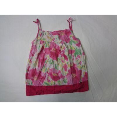134-es rózsaszín virágos pántos blúz - Miss E-vie