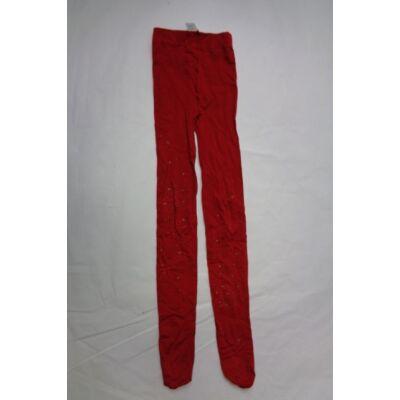 10-12 évesre piros csillagos nylonharisnya