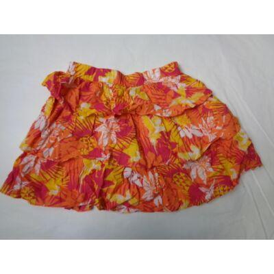 146-152-es narancssárga-sárga virágos szoknya - In Extenso