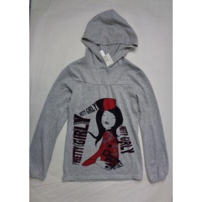 146-152-es szürke lányos pulóver - C&A