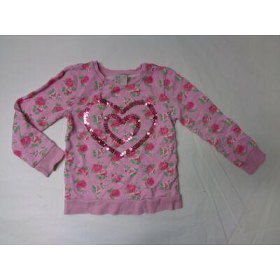 110-es rózsaszín rózsás vékony pulcsi - F&F