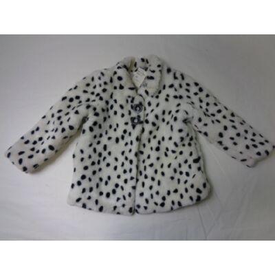 104-es fehér pöttyös szőrmés kabát - George