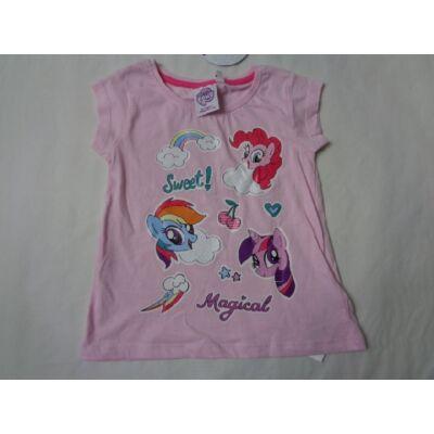92-es rózsaszín figurás póló - My Little Pony - ÚJ