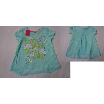 92-es zöld lepkés csillogó póló - Kiki & Koko - ÚJ