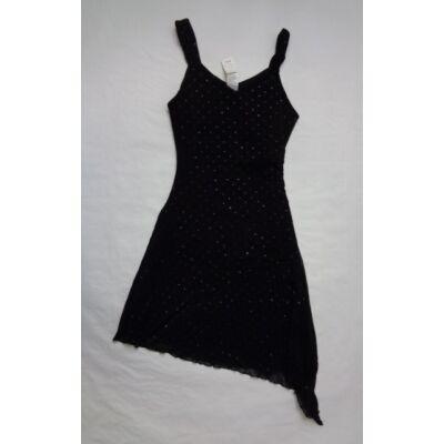 152-es fekete féloldalas csillogó ujjatlan ruha - C&A
