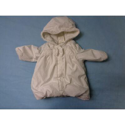 68-74-es fehér télikabát - Zip Zap